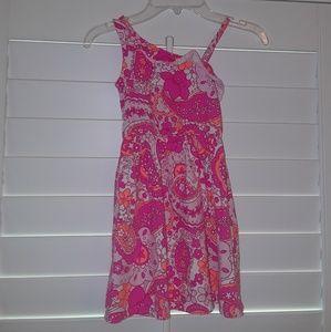 Children's Place girls off shoulder Neon Dress 5T